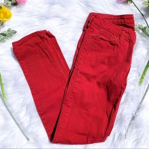 Arizona Red Super Skinny Size 5 Cotton Jeans
